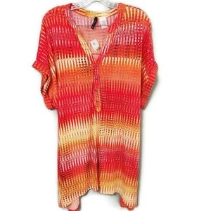 New Directions Multicolor Plus Size Top New